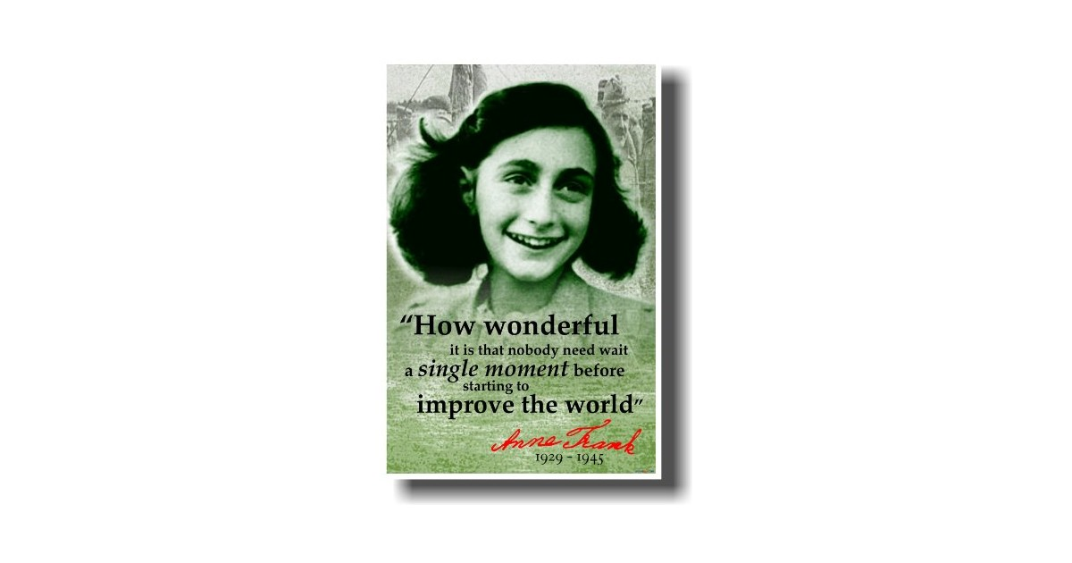 a paper on anne frank More essay examples on literature rubric anne frank began writing in her diary on her thirteenth birthday, june 12, 1942, three weeks before her entire family went into hiding together with the van pels family in the secret upstairs the annex of her father' office building in amsterdam.