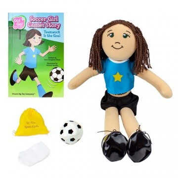 Go! Go! Sports Girl: Soccer Girl, Cassie - Read and Play Set