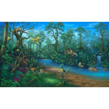 jungle dreams wall mural a mighty girl environmental graphics wall mural david miller c829