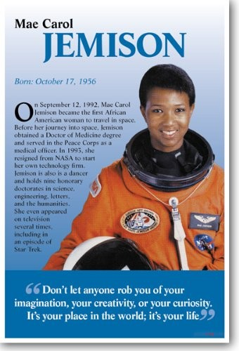 Mae Jemison Classroom Poster | A Mighty Girl