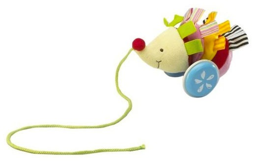 Pull Toys For Girls : Hedgehog pull along toy a mighty girl