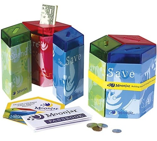 Moonjar classic moneybox save spend share a mighty girl for Money saving box ideas