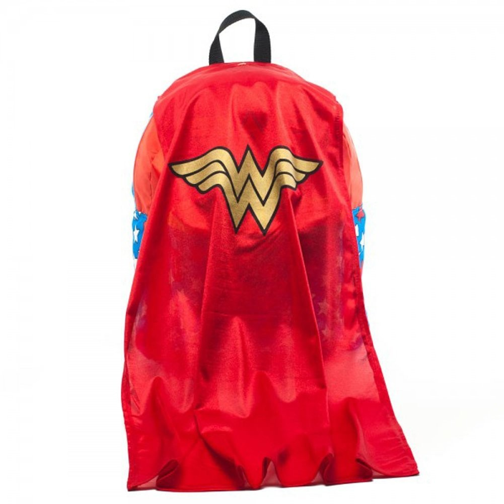 Wonder Woman Red Backpack With Cape