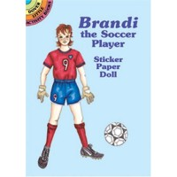 Brandi the Soccer Player Sticker Doll