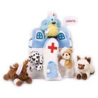 Plush Animal Hospital House