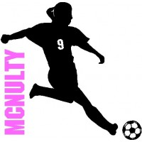 Soccer Girl Decal With Custom Name/Number