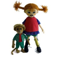 Pippi Longstocking & Mr. Nilsson Dolls
