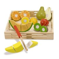 Deluxe Wooden Cutting Fruit Crate