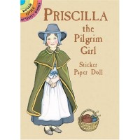 Priscilla the Pilgrim Girl Sticker Doll