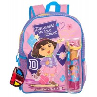 Dora We Love School Backpack and Pencil Case