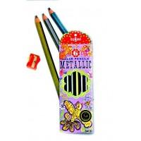 6 Metallic Colored Pencils