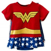Wonder Woman Caped Romper