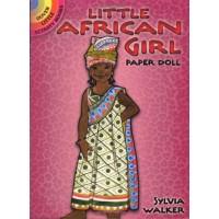 Little African Girl Paper Doll