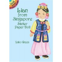 Lian from Singapore Sticker Doll