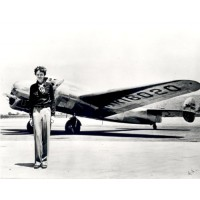 Amelia Earhart with Plane Poster
