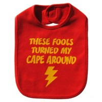 Cape on Backwards Bib - Red
