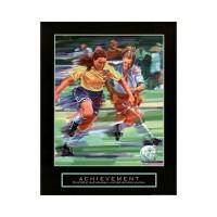 Achievement Girls Soccer Motivational Poster