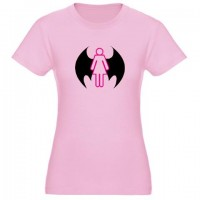 Bat Girl Design Shirt