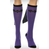 Batgirl Purple / Black Caped Knee Socks