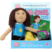Soccer Girl Cassie's Story: Doll and Book Set