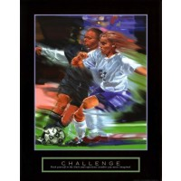 Challenge Yourself Soccer Motivational Poster