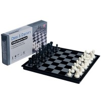 2 in 1 Travel Magnetic Chess and Checkers