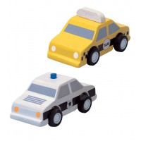 PlanCity Taxi and Police Car