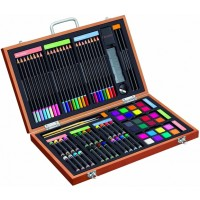 82 Piece Deluxe Art Set in Wooden Case