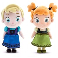Anna and Elsa Toddler Plushes