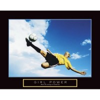Girl Power Soccer Motivational Poster Print
