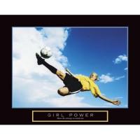 Girl Power Soccer Motivational Poster Print