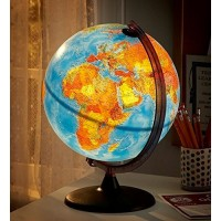 Illuminated Relief Globe