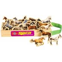 Horse Breeds Wooden Magnets