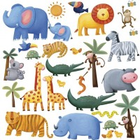 Jungle Adventure Peel & Stick Wall Coverings