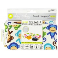 Snack Happens! Itzy Ritzy Mini Reusable Snack Bags, Set of 2