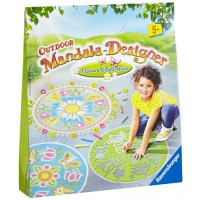 Outdoor Mandala Designer: Flowers and Butterflies
