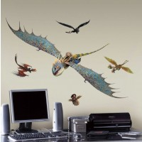 How to Train Your Dragon 2 Astrid and Stormfly Wall Decals