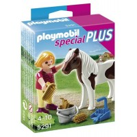 Girl With Pony Playset