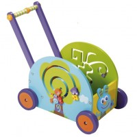 Wooden Rabbit Wagon Push and Play