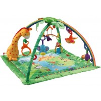 Rainforest Melodies and Lights Deluxe Baby Gym