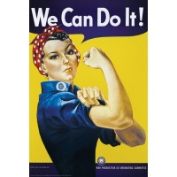 Rosie the Riveter Art Poster Print