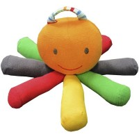 Organic Stripe and Brights Scraptopus Toy
