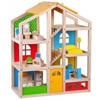 Skylar Dollhouse with Furniture and Dolls