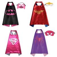 Superhero Cape and Mask - Set of 4