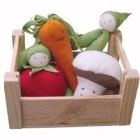 Organic Veggies in a Crate