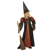 Orange Glitter Witch Costume