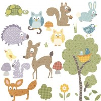Woodland Animals Wall Decals