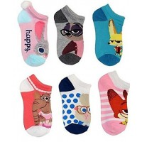 Zootopia No-Show Socks 6-Pack