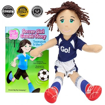 Go! Go! Sports Girl: Soccer Girl Cassie - Read and Play Set