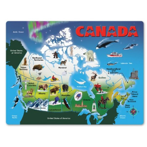 Map Of Canada Puzzle.Canada Map Wooden Jigsaw Puzzle A Mighty Girl